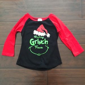 Other - Toddler girl Christmas Grinch top
